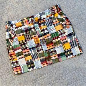 🆕🦋 J. Crew madras patchwork mini skirt
